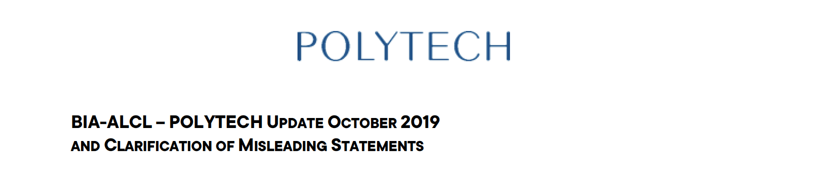 Wolfgang Steimel, CEO of POLYTECH, would like to explain the BIA-ALCL debate.